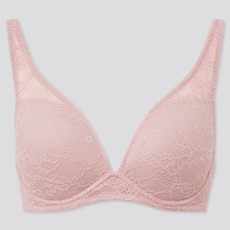 Women Shape Lift Wireless Bra, Pink, Large