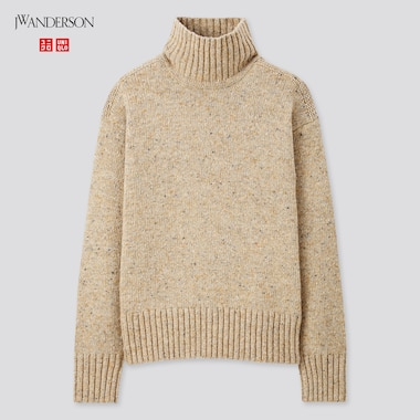 Women Turtleneck Long-Sleeve Sweater (Jw Anderson), Natural, Medium