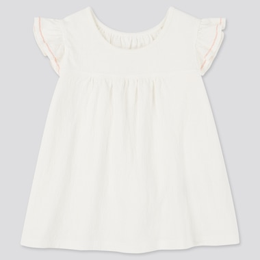 Babies Toddler Frill Short Sleeved T-Shirt