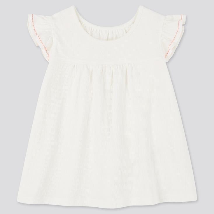 Toddler Frill Short-Sleeve T-Shirt, Off White, Large