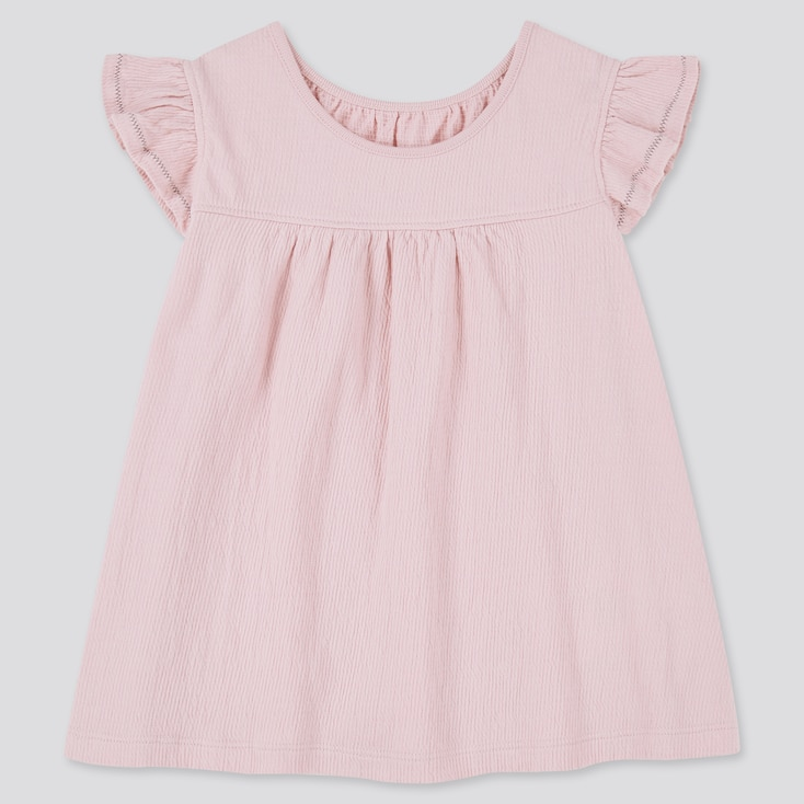 Toddler Frill Short-Sleeve T-Shirt, Pink, Large