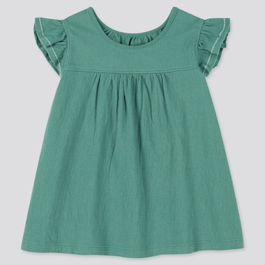 Toddler Frill Short-Sleeve T-Shirt, Green, Medium