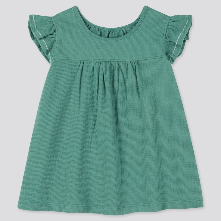 Toddler Frill Short-Sleeve T-Shirt, Green, Large