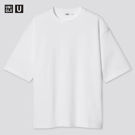 Uniqlo U AIRism Baumwoll Oversize T-Shirt mit Halbarm