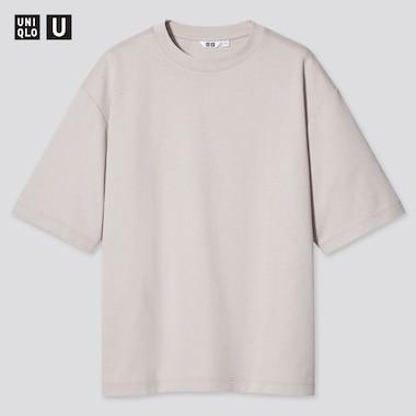 T-Shirt Uniqlo U AIRism Cotone Oversized Girocollo Mezze Maniche