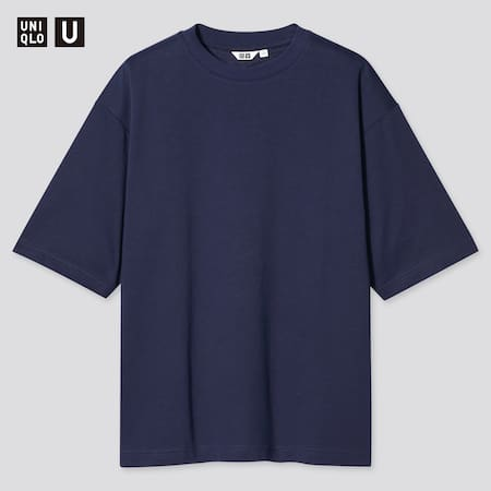 Uniqlo U AIRism Cotton Crew Neck Oversized Fit T-Shirt