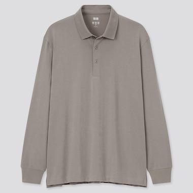 Men AIRism Long Sleeved Polo Shirt