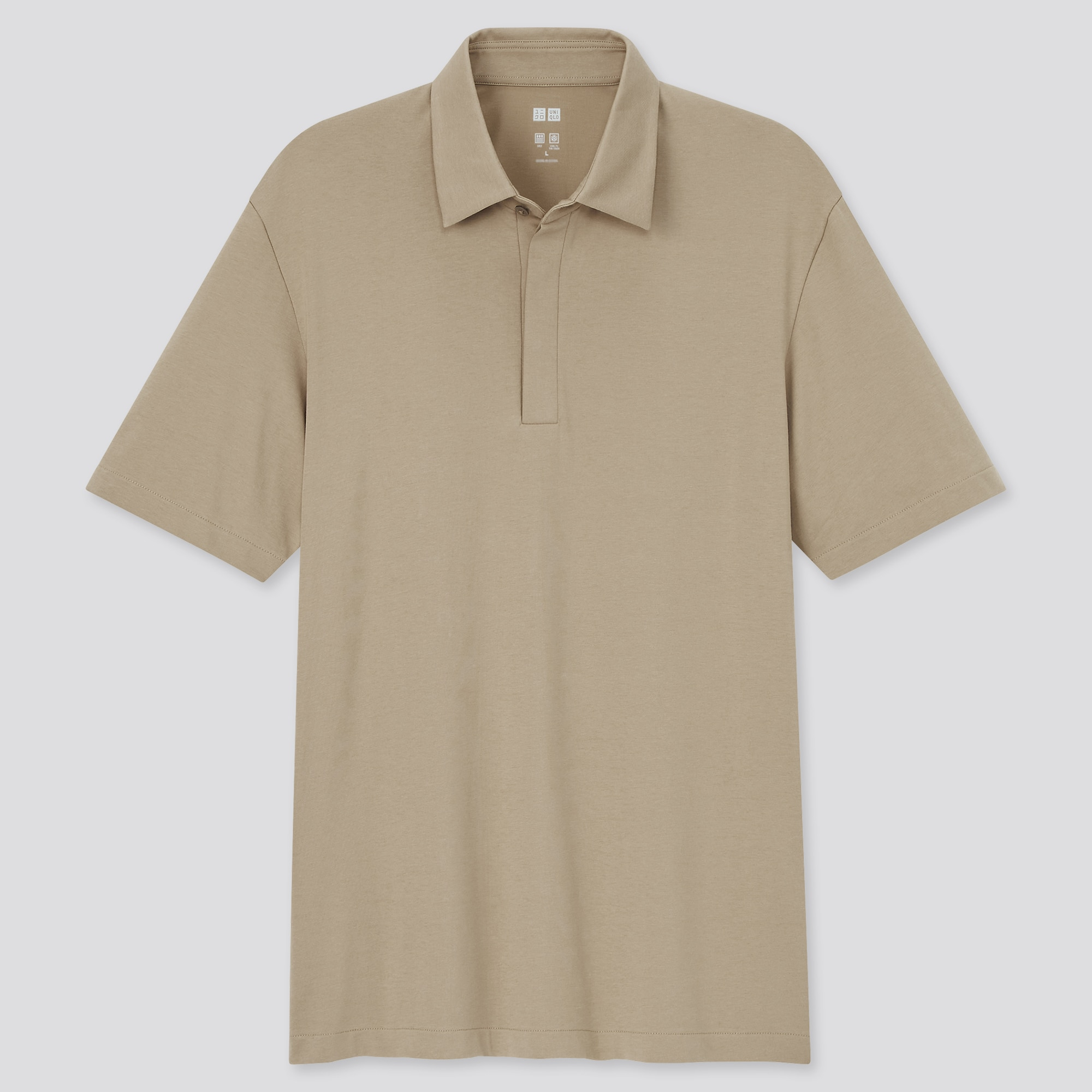 MEN AIRism FLY-FRONT POLO SHIRT
