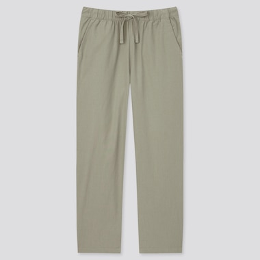 Women Cotton Relax Solid Ankle Pants (Online Exclusive), Olive, Medium