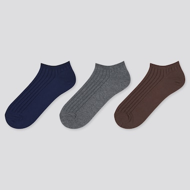 WOMEN Ribbed Short Socks (Three Pairs)