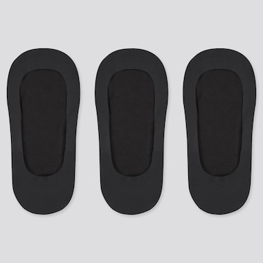 Women Sheer Invisible No-Show Socks (Three Pairs)