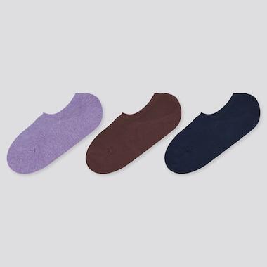 Women Mesh Footsies (Set Of 3), Purple, Medium
