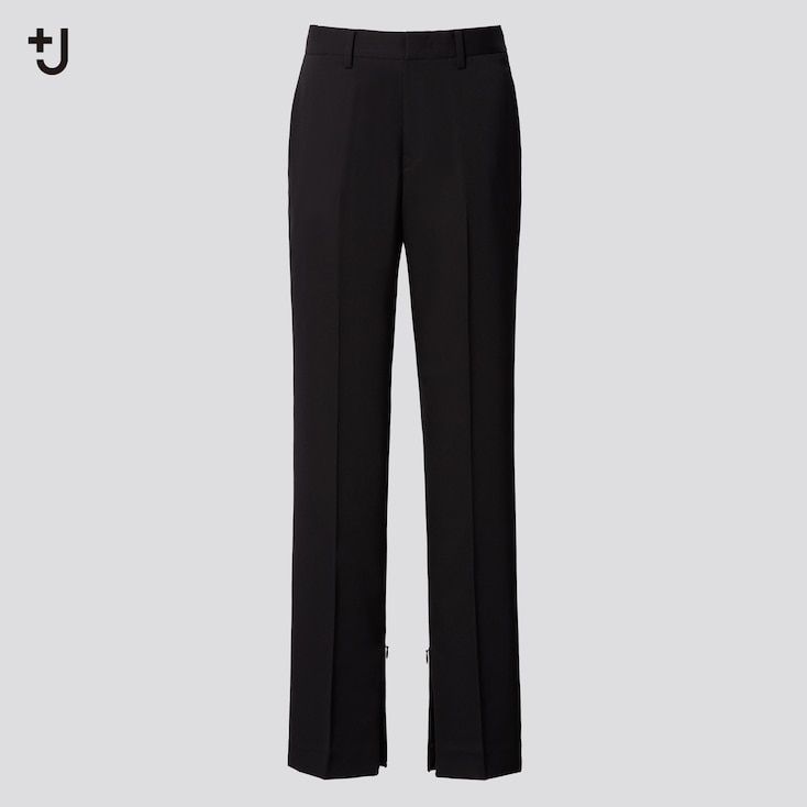 Women +J Wool Slim Pants, Black, Large
