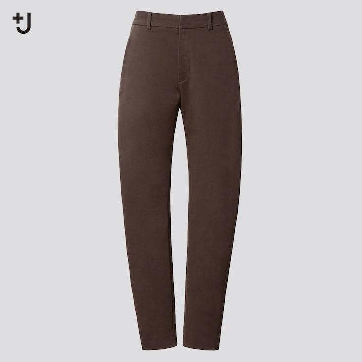 Women +J  Chino Pants, Dark Brown, Large
