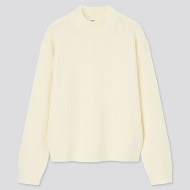 Women Light Soufflé Soft Knit Mock Neck Jumper