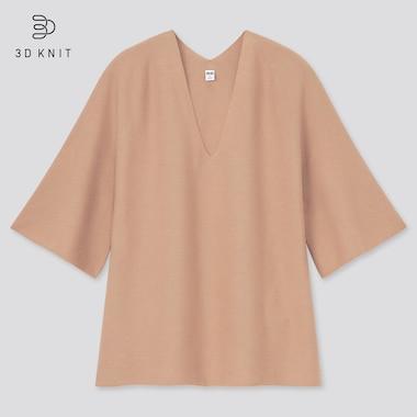Jersey Punto 3D Sin Costuras Algodón Mujer