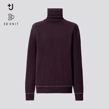 Women +J 3D Knit Cashmere Turtleneck Jumper