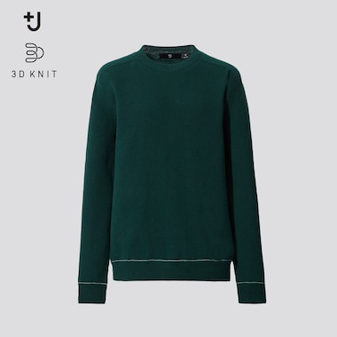 Women +J 3D Knit Cashmere Crew Neck Jumper