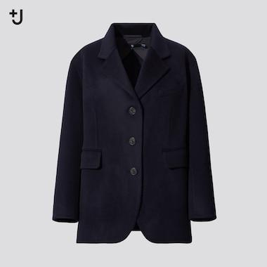 Women +J Cashmere Blend Oversized Fit Jacket