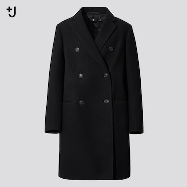 Women +J Double Faced Double Breasted Coat