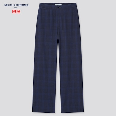 Women Linen Cotton Easy Pants (Ines De La Fressange), Navy, Medium