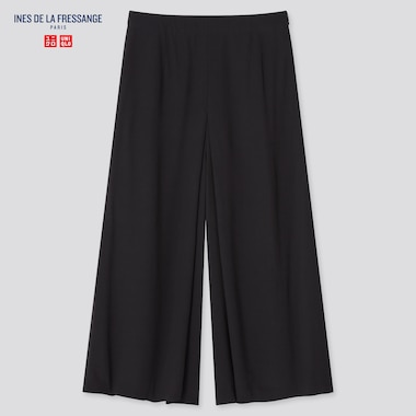 Women Rayon Skirt Pants (Ines De La Fressange), Black, Medium