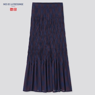 Women Ines Chiffon Twist Pleated Long Skirt