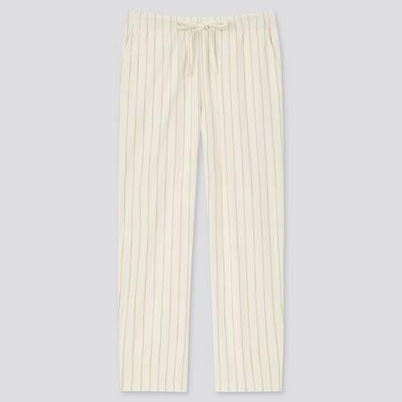 Pantalon Coton 7/8ème à Rayures Femme
