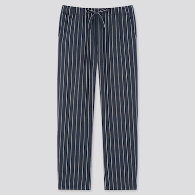 Women Cotton Relaxed Fit Striped Ankle Length Trousers