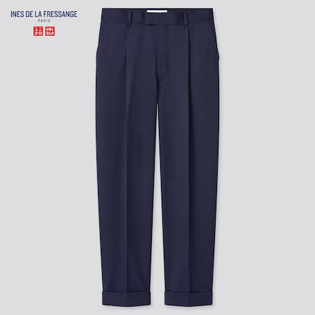 Women Ines Wool Blend Tucked Tapered Fit Trousers