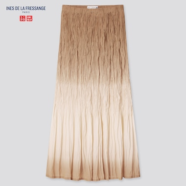 Women Ines Twist Pleated Long Skirt