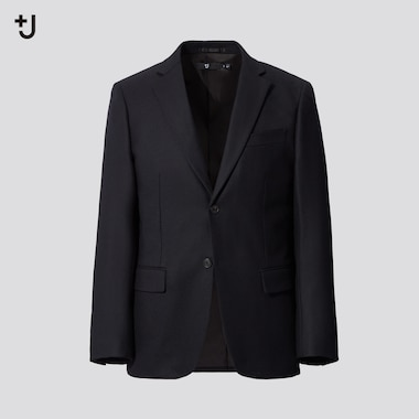 Men +J Wool Tailored Blazer Jacket