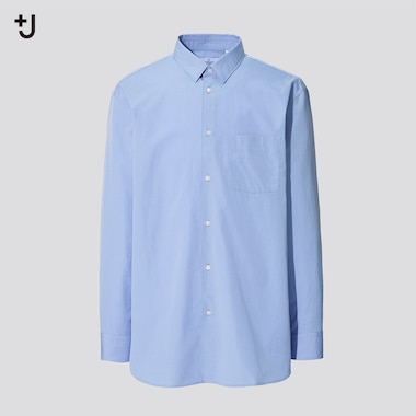Men +J Supima Cotton Regular Fit Shirt (Regular Collar)