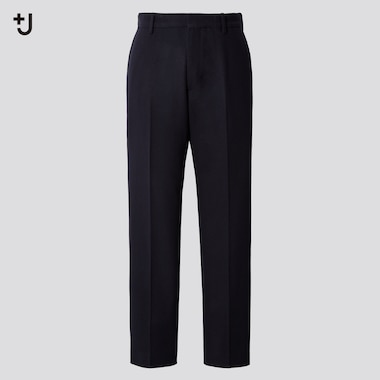 Men +J Wool Blend Relaxed Fit Tapered Trousers