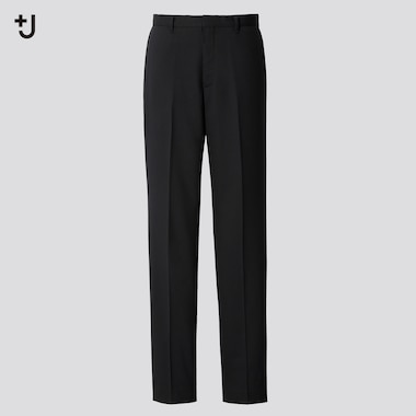 Men +J Wool-Blend Pants, Black, Medium