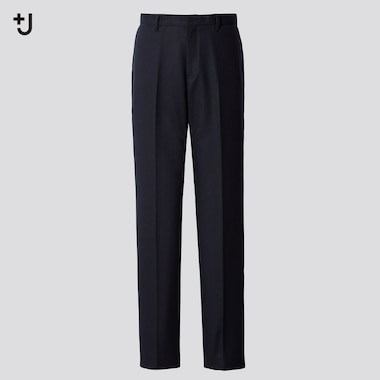 Men +J Wool-Blend Slim-Fit Pants, Navy, Medium