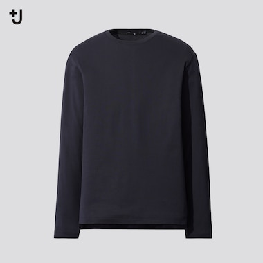 Men +J Supima Cotton Crew Neck Long Sleeved T-Shirt