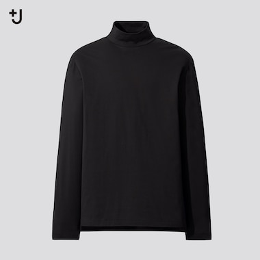 Men +J Supima Cotton Mock Neck Long Sleeved T-Shirt