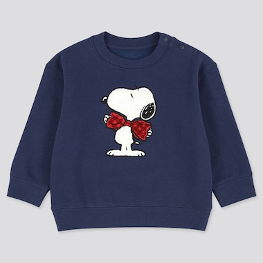 Toddler Peanuts Fleece-Backed Long-Sleeve Sweatshirt, Blue, Medium