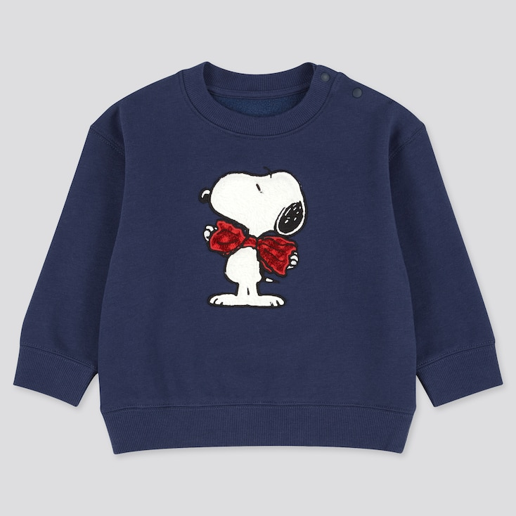 Toddler Peanuts Fleece-Backed Long-Sleeve Sweatshirt, Blue, Large