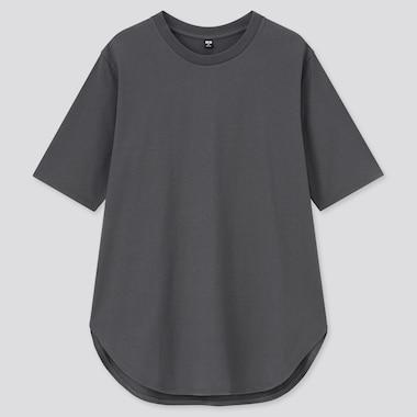 Women Smooth Cotton Round Hem Longline T-Shirt