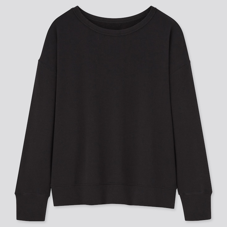 Women Ultra Stretch Sweatshirt, Black, Large