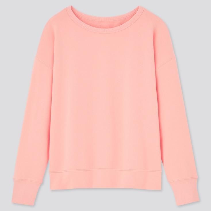Women Ultra Stretch Sweatshirt, Pink, Large