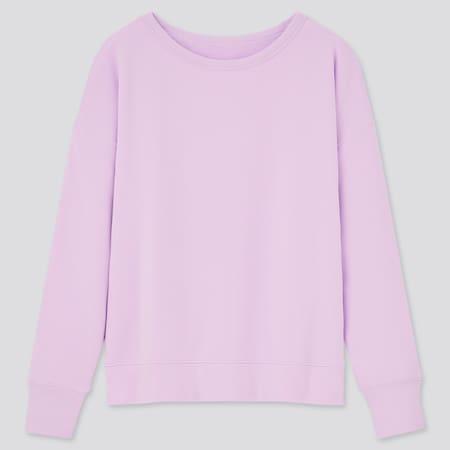 Damen Ultra Stretch Sweatshirt mit Boot-Ausschnitt