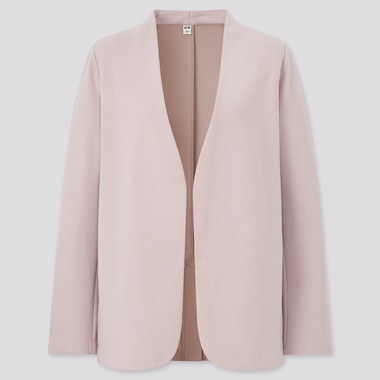 Women Double Faced Stretch Blazer Jacket