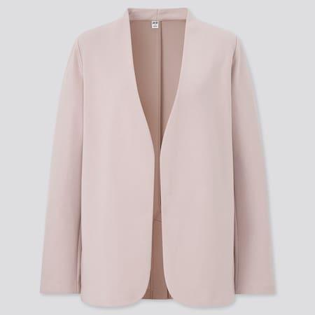 Women Double Faced Stretch Blazer Jacket