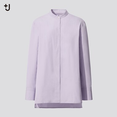 Women +J Supima Cotton Stand Collar Shirt