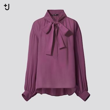 Women +J Silk Gathered Blouse