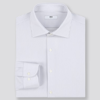 Men Easy Care Comfort Striped Shirt (Semi-Cutaway Collar)