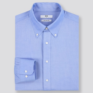 Men Super Non-Iron Regular-Fit Long-Sleeve Shirt (Online Exclusive), Blue, Medium
